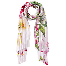 Buy Ted Baker Rae Pleated Skinny Scarf, Nude/Multi Online at johnlewis.com