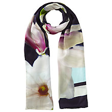 Buy Ted Baker Calley Magnolia Long Scarf, Navy/Multi Online at johnlewis.com