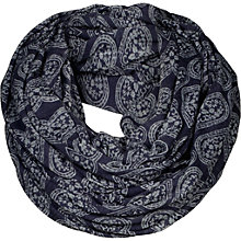 Buy Fat Face Heart Burn Out Snood, Blue Online at johnlewis.com