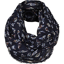 Buy Fat Face Painterly Butterfly Snood, Navy Online at johnlewis.com