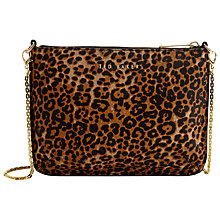 Buy Ted Baker Valerie Crosshatch Leather Across Body Bag, Leopard Online at johnlewis.com