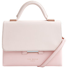 Buy Ted Baker Maisie Crosshatch Small Leather Tote Online at johnlewis.com