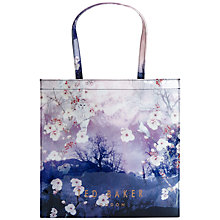 Buy Ted Baker Owlcon Large Icon Shopper Bag, Blue Online at johnlewis.com