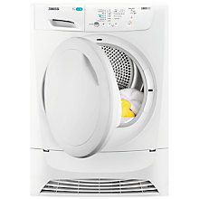 Buy Zanussi LINDO300 ZDP7203PZ Condenser Freestanding Tumble Dryer, 7kg Load, B Energy Rating, White Online at johnlewis.com