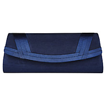 Buy Jacques Vert Woven Effect Clutch Bag, Navy Online at johnlewis.com