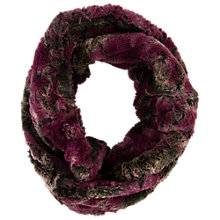 Buy Chesca Abstract Printed Snood, Aubergine Online at johnlewis.com