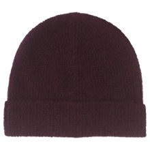 Buy Whistles Ribbed Hat, Burgundy Online at johnlewis.com