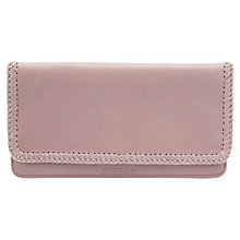 Buy Jigsaw Frieda Whip Stitch Wallet, Pink Online at johnlewis.com