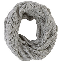 Buy Chesca Pointelle Knitted Snood, Silver Online at johnlewis.com