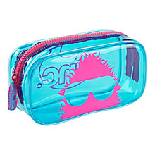 Buy Tinc Neon PVC Pencil Case, Blue/Pink Online at johnlewis.com