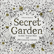 Buy Secret Garden Colouring Wall Calendar Online at johnlewis.com