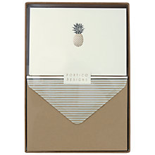 Buy Portico Foiled Pineapple Notecards, Box of 10 Online at johnlewis.com