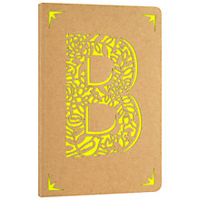 Buy Portico Monogram Kraft A6 Notebook, B Online at johnlewis.com