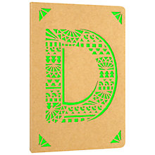 Buy Portico Monogram Kraft A6 Notebook, D Online at johnlewis.com