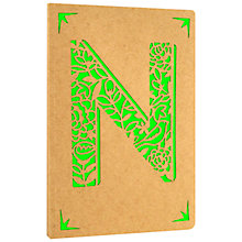Buy Portico Monogram Kraft A6 Notebook, N Online at johnlewis.com