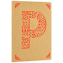 Buy Portico Monogram Kraft A6 Notebook, P Online at johnlewis.com