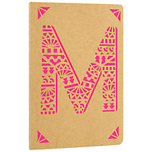 Buy Portico Monogram Kraft A6 Notebook, M Online at johnlewis.com
