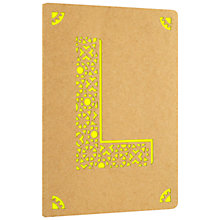 Buy Portico Monogram Kraft A6 Notebook, L Online at johnlewis.com