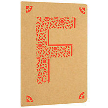 Buy Portico Monogram Kraft A6 Notebook, F Online at johnlewis.com
