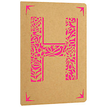 Buy Portico Monogram Kraft A6 Notebook, H Online at johnlewis.com