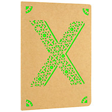 Buy Portico Monogram Kraft A6 Notebook, X Online at johnlewis.com