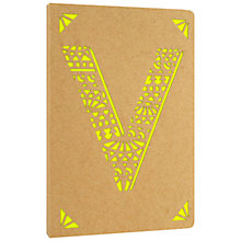 Buy Portico Monogram Kraft A6 Notebook, V Online at johnlewis.com