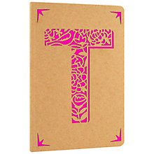 Buy Portico Monogram Kraft A6 Notebook, T Online at johnlewis.com