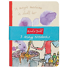 Buy Roald Dahl Midgy Notebooks, Set of 3 Online at johnlewis.com