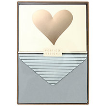 Buy Portico Foiled Solid Heart Notecards, Box of 10 Online at johnlewis.com