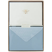 Buy Portico Foiled Bee Notecards, Box of 10 Online at johnlewis.com