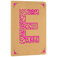 Buy Portico Monogram Kraft A6 Notebook, E Online at johnlewis.com