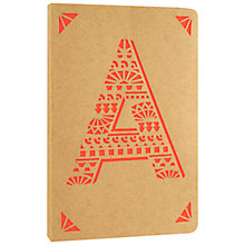 Buy Portico Monogram Kraft A6 Notebook, A Online at johnlewis.com