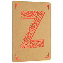 Buy Portico Monogram Kraft A6 Notebook, Z Online at johnlewis.com
