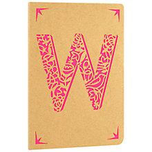 Buy Portico Monogram Kraft A6 Notebook, W Online at johnlewis.com