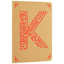 Buy Portico Monogram Kraft A6 Notebook, K Online at johnlewis.com