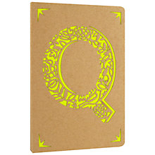Buy Portico Monogram Kraft A6 Notebook, Q Online at johnlewis.com