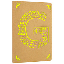 Buy Portico Monogram Kraft A6 Notebook, G Online at johnlewis.com