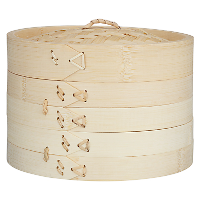 John Lewis Two-Tier Bamboo Steamer