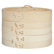 Buy John Lewis Two-Tier Bamboo Steamer Online at johnlewis.com
