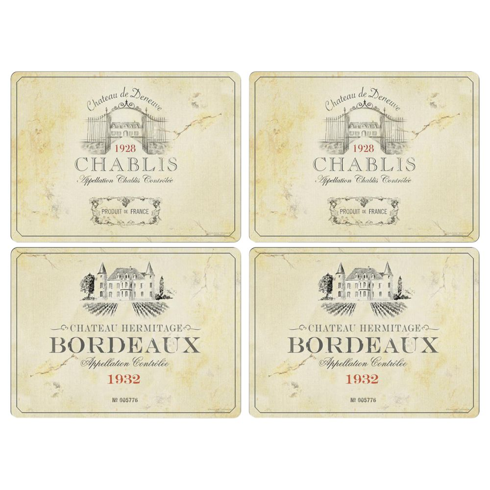 Pimpernel Pimpernel Vin De France Placemats, Large, Set of 4