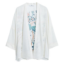 Buy Mango Flowy Printed Cape, Light Beige Online at johnlewis.com