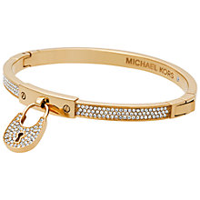 Buy Michael Kors Clear Crystal Padlock Bangle Online at johnlewis.com
