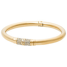 Buy Michael Kors Clear Crystal Hinge Bangle Online at johnlewis.com