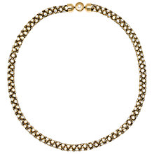 Buy Micheal Kors Clear Mesh Round Necklace Online at johnlewis.com