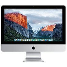 "Buy Apple iMac MK442B/A All-in-One Desktop Computer, 2.8GHz Quad-core Intel Core i5, 8GB RAM, 1TB, 21.5"" Full HD, Silver Online at johnlewis.com"