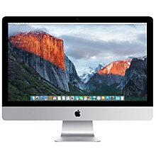 "Buy Apple iMac with Retina 5K display MK462B/A All-in-One Desktop Computer, 3.2GHz Quad-core Intel Core i5, 8GB RAM, 1TB, 27"", Silver Online at johnlewis.com"