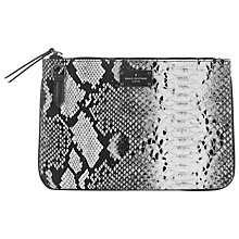 Buy Paul's Boutique Ida Clutch, Black/White Online at johnlewis.com