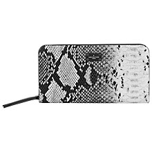 Buy Paul's Boutique Carla Faux Snakeskin Purse, Black/White Online at johnlewis.com