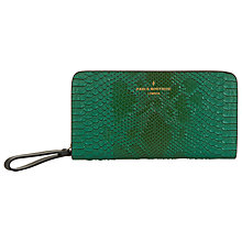 Buy Paul's Boutique Carla Faux Snakeskin Purse, Emerald Green Online at johnlewis.com