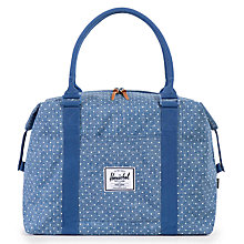 Buy Herschel Supply Co. Strand Duffle Bag, Blue/White Online at johnlewis.com
